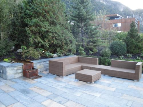 Lounge, Rattan, braun, Sitzgruppe, Sitzplatz