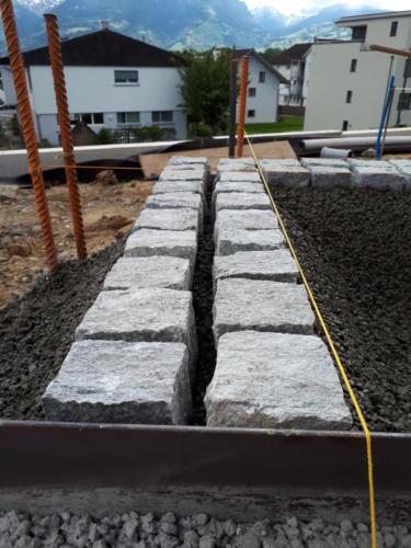 Bundstein Granit doppelreihig