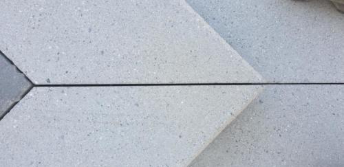 Betonblockstufen Gehrungsschnitt