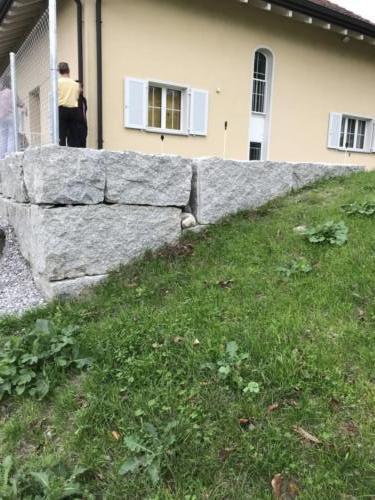 Mauer, Quader, Quadersteine, Granit, Granitquader,Stützmauer